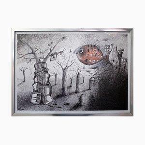 Keziat - The Parallel Road - Original Pen on Paper - 2012