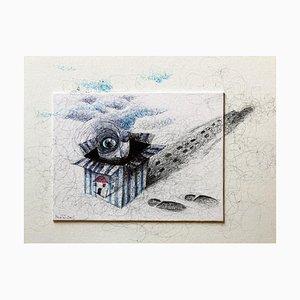 Keziat - My House - Original Pen Drawing - 2016