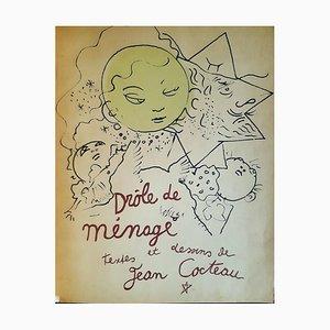 Cleaning Funny, Buch Illustriert von Jean Cocteau, 1948