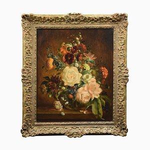 Richard Hanson, Oil on Board, Still Life, Flowers