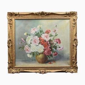 Stilleben mit Blumen, Öl auf Leinwand