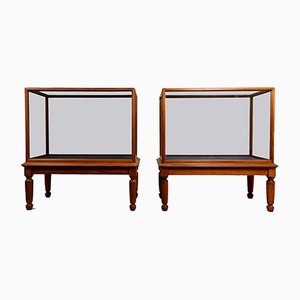 V&A Museum Victorian Mahogany Display Cabinet