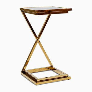 Brass X Side Table
