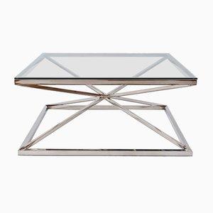 Chrome Star Framed Coffee Table