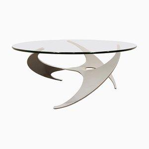 Tavolino da caffè Propeller vintage di Knut Hesterberg per Ronald Schmitt, anni '60