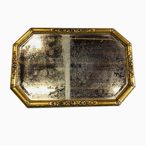 Antique Mirror with Golden Molding