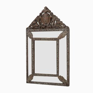 French Brass Wall Mirror
