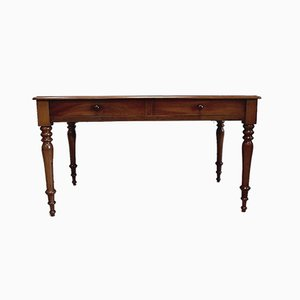 English Solid Mahogany Desk, 1850s