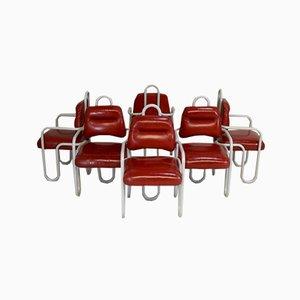 Französische Stühle von Kwok Hoi Chan für Steiner, 1970er, 6er Set