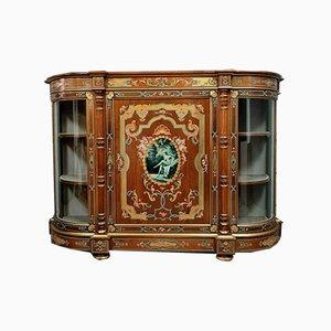 Napoleon III Handgemalte Halbkreis Vase aus Seidenmassivholz