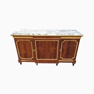 Speckled Mahogany & Bronze Sideboard by Fourdinois, 19th Century