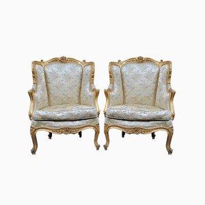 Louis XVI Armlehnstühle, 19. Jh., 2er Set