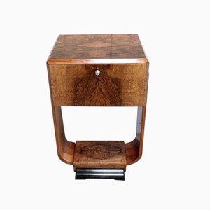 Small Art Deco Walnut Cabinet, Early 20th Century