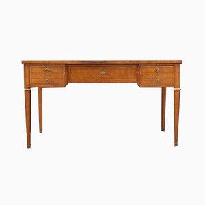 Französischer Vintage Schreibtisch im Napoleon III Stil mit Intarsien und Intarsien