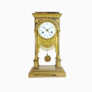 19th Century Empire Period Gilt Bronze Clock