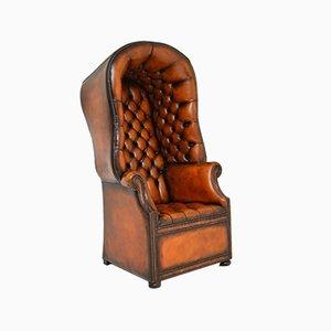 Vintage Georgian Style Leather Porter's Armchair
