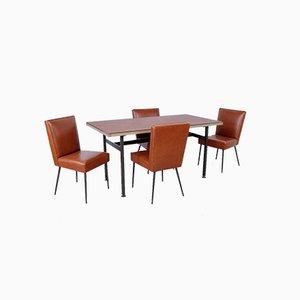 Italienische Tisch und Bürostühle von Trau, 1960er, 5er Set