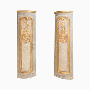 18th Century Corner Cabinets from Louis Seize, Set of 2