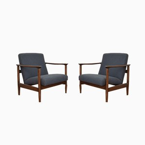 Polish Armchairs by Edmund Homa, 1960s, Set of 2