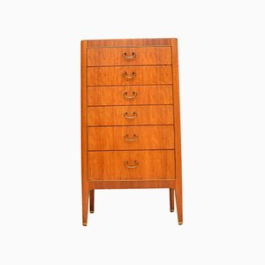 Vintage Mahogany & Brass Chest of Drawers