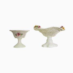 Ceramic Centerpiece Bowl, 1960s, Set of 2