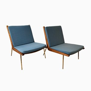 FD-134 Boomerang Chairs by Peter Hvidt & Orla Mølgaard-Nielsen for France & Søn / France & Daverkosen, 1950s, Set of 2