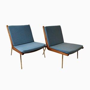 FD-134 Boomerang Stühle von Peter Hvidt & Orla Mølgaard-Nielsen für France & Søn / France & Daverkosen, 1950er, 2er Set