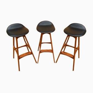 Sgabelli da bar di Erik Buch per Oddense Maskinsnedkeri / od Møbler, set di 3