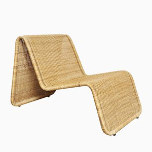 Vintage Rattan Lounge Chair from IKEA