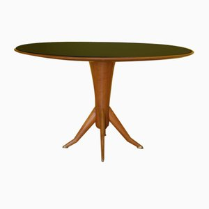 French Colored Glass Dining Table, 1950s