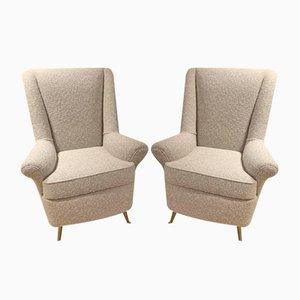 Italienische Stühle von ISA, 1970er, 2er Set