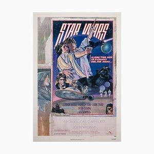 Star Wars US 1 Sheet Style, D Original Filmposter, Struzen, 1977