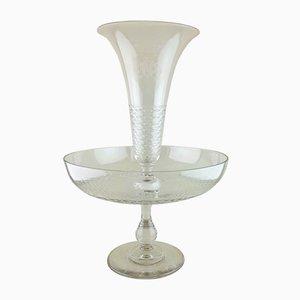 Centrotavola in cristallo, XX secolo
