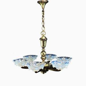 Lampada da soffitto vintage Art Déco di Petitot & Ezan
