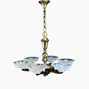 Lámpara de techo Art Déco vintage de Petitot & Ezan