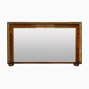 Espejo Overmantle estilo George II de nogal y parcela dorada