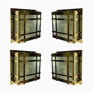 Large Modernist Wall Lights, Set of 4