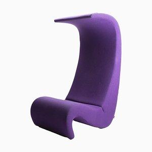 Lila Amoebe Sessel mit Hoher Rückenlehne von Verner Panton für Vitra