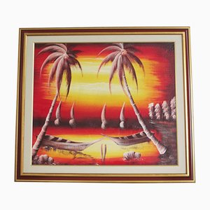Pintura de Sunset Over the Sea, años 90