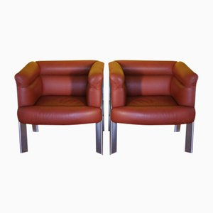 Interlude Chairs by Marco Zanuso for Poltrona Frau, Set of 2