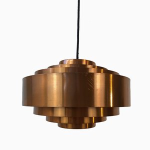 Lámpara colgante Ultra Copper de Jo Hammerborg para Fog & Mørup, años 60