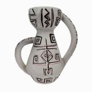 French Glazed Ceramic Vase by François Re Vallauris, 1960s