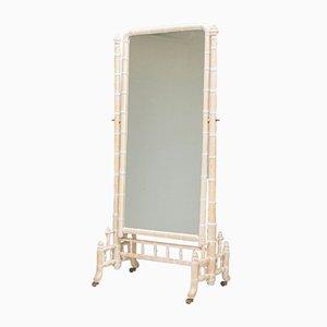 Grand Miroir Cheval en Faux Bambou