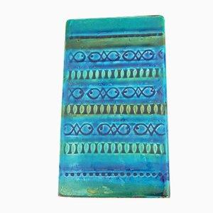 Italienische Blaue Rimini Vase von Bitossi, 1960er