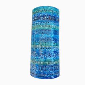 Italian Rimini Blue Vase from Bitossi, 1960s