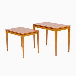 Tavoli ad incastro in teak, set di 2