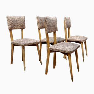 French Chairs, 1950s, Set of 4