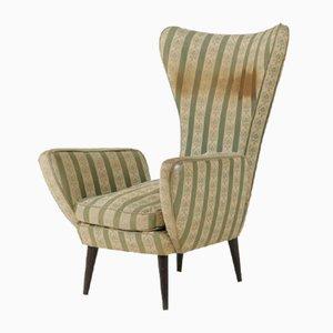 Italian Wood Armchair, 1950s