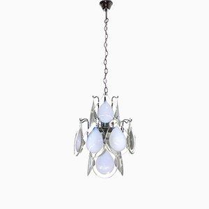 Lámpara de araña de cristal de Murano de Gino Vistosi para Vistosi, años 60