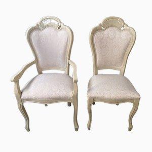 Italienische Esszimmerstühle im Louis XVI Stil, 1950er, 4er Set